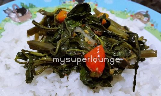 seafood trisulo 234 kelapa gading - kangkung terasi