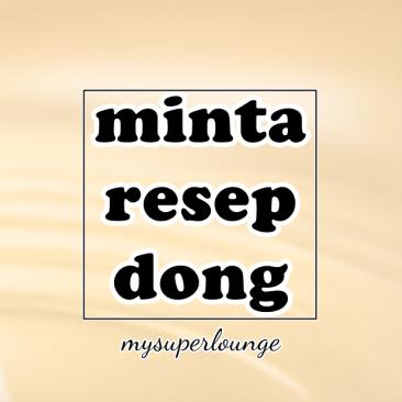 minta resep