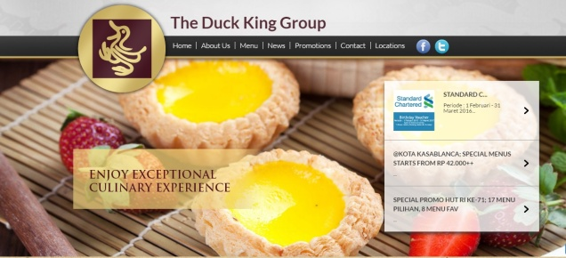 the duck king homepage 2016