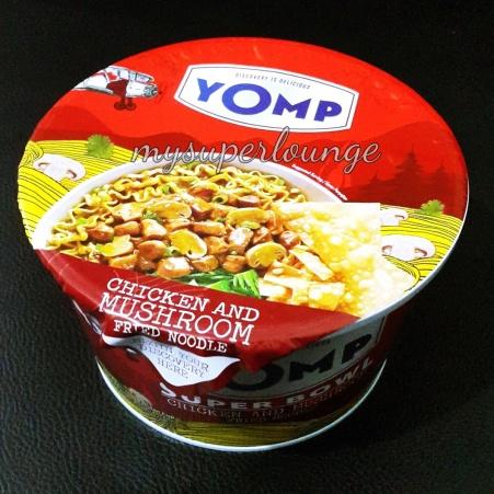 kemasan YOMP Super Bowl rasa Chicken and Mushroom